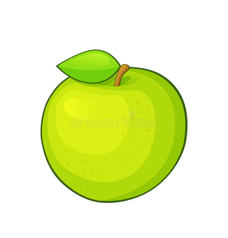 Download Green apple stock vector. Image of object, apple, organic - 34616781