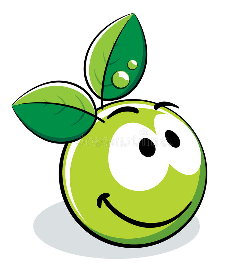 Apple Character Design : Green apple character stock vector image of