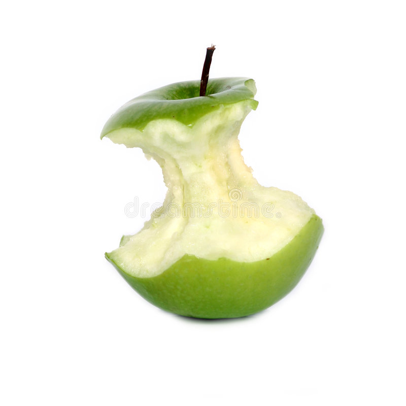Free Green Apple Core Stock Photography - 743072