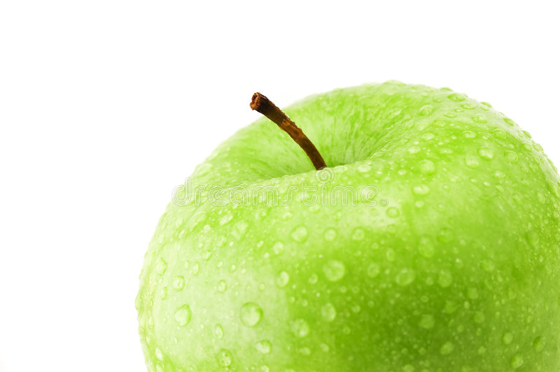 Download Green apple detail stock image. Image of water, apple - 5876111