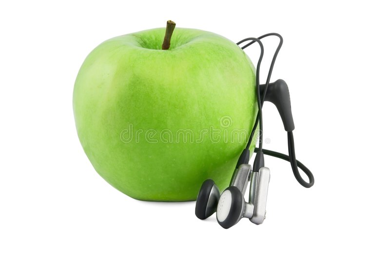 Green Apple Device Stock Images