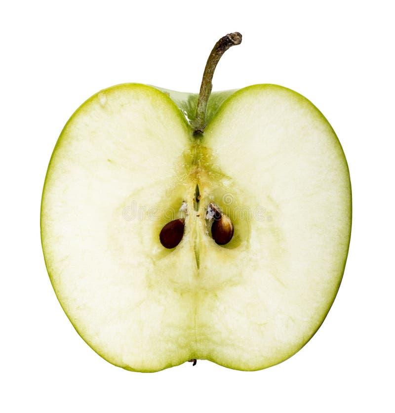 Green apple fruit slice stock photo