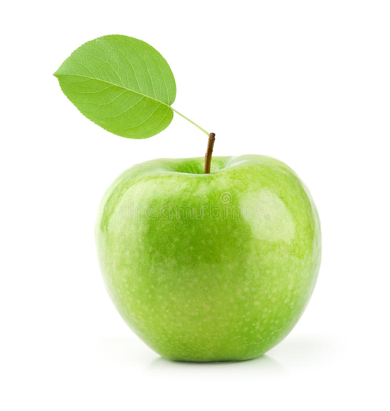 Green Apple isolated on white royalty free stock photo