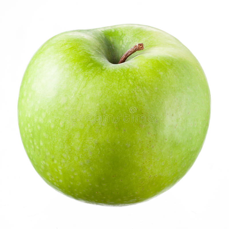 Green apple Isolated on white royalty free stock photography