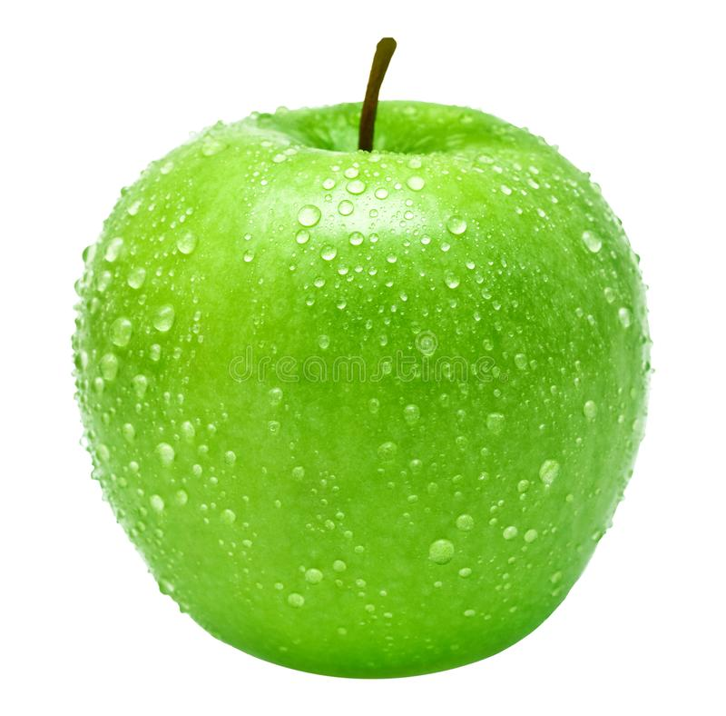 Green apple isolated on white. And PNG image with transparent background royalty free stock photos