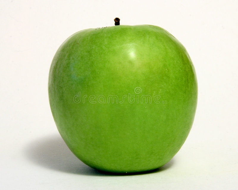 Download Green Apple Over White stock photo. Image of fruit, crunchy - 109040