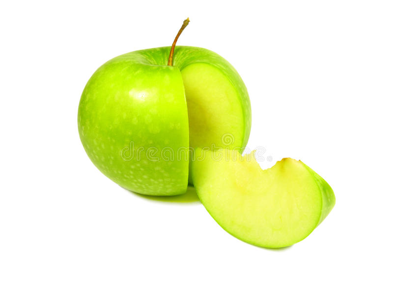 Download Green apple with segment stock image. Image of foods - 20439237