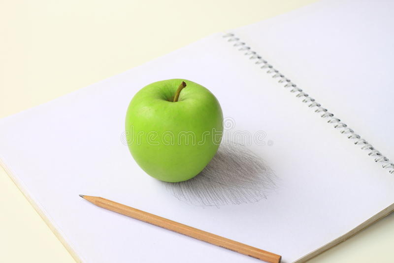 Green Apple Sketch Stock Photos