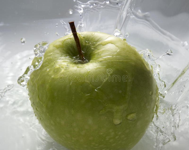 Download Green apple in water stock image. Image of water, fresh - 14515143