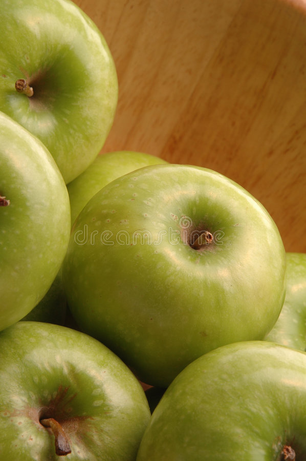 Download Green apples stock photo. Image of crunchy, white, organic - 420086