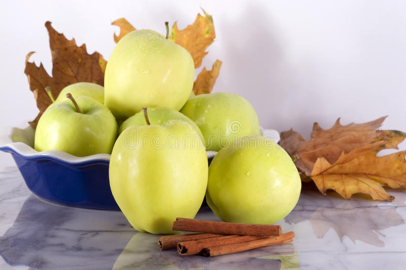 Green Apples - Ginger Gold Variety royalty free stock images
