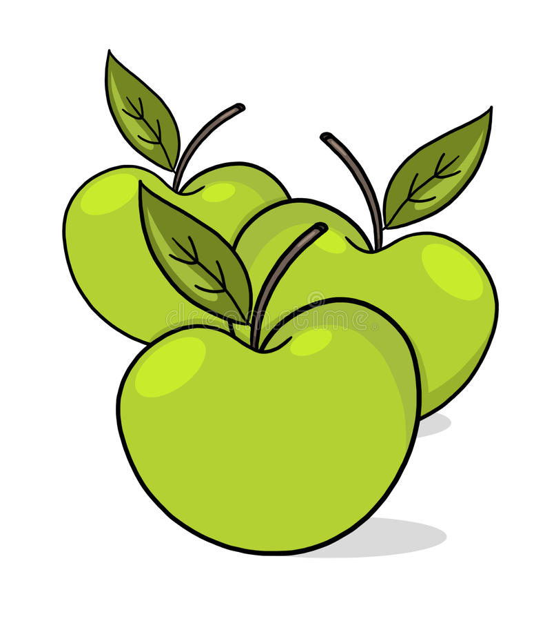 Download Apples illustration stock illustration. Image of organic - 17048548