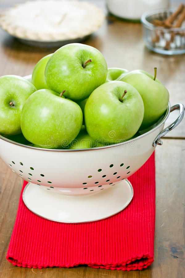 Free Green Apples In A Colander. Royalty Free Stock Photography - 23542447