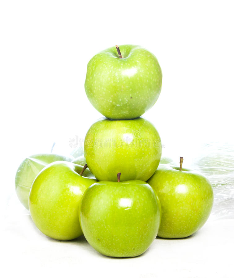 Free Green Apples Isolated Stock Images - 27234504