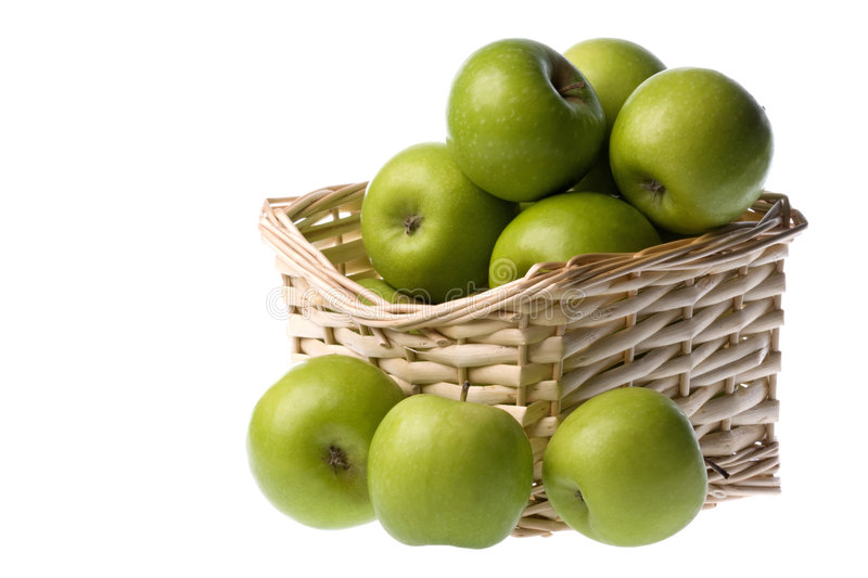 Download Green Apples Isolated stock image. Image of diet, fruits - 6641531