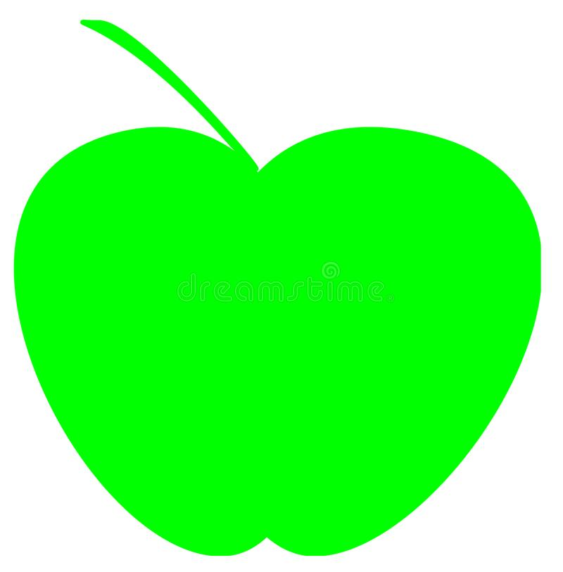 Green apples logo for export import business stock illustration