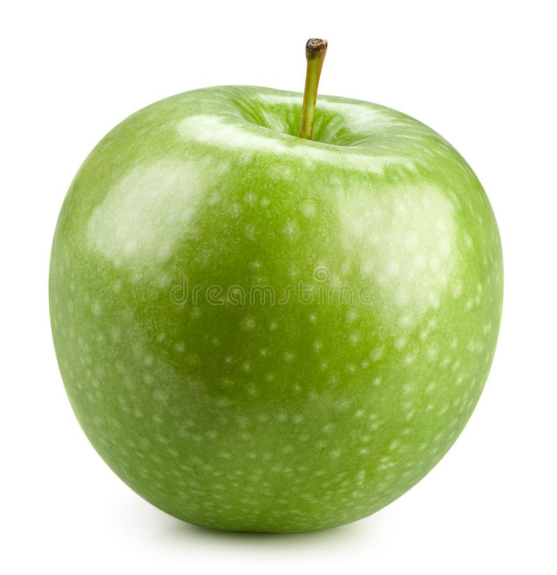 Green apples  on white royalty free stock images