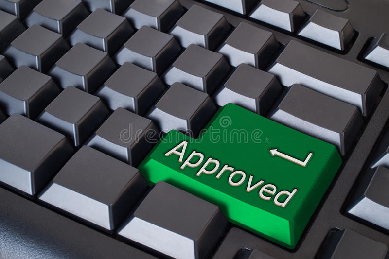 Download Green approved button stock illustration. Illustration of network - 14993469