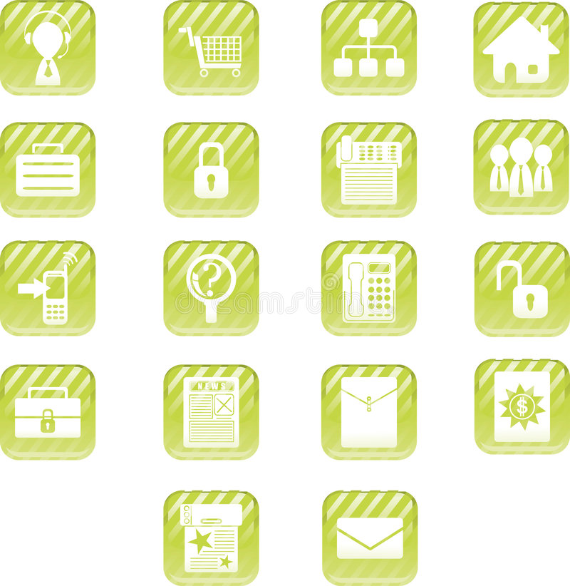 Green Aqua Icons. A set of business icons suitable for your website or print stock illustration