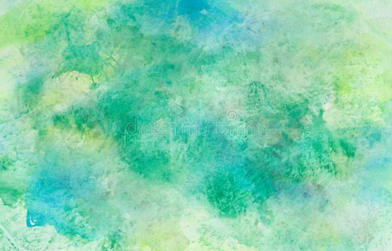 Green aquarell watercolor background pattern. stock images