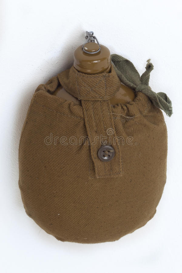 Green Army flask. Old model stock images