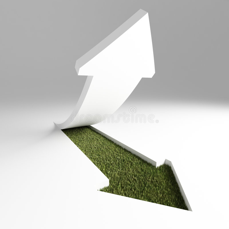 Download Green arrow stock illustration. Illustration of orientation - 6731189