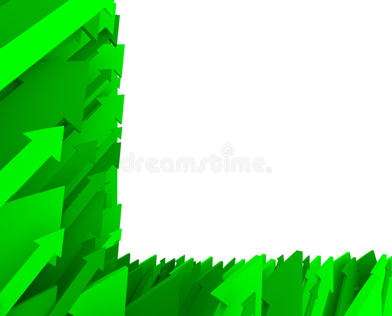 Green Arrow Background - Partial. A background of green arrows - with whitespace for your text vector illustration