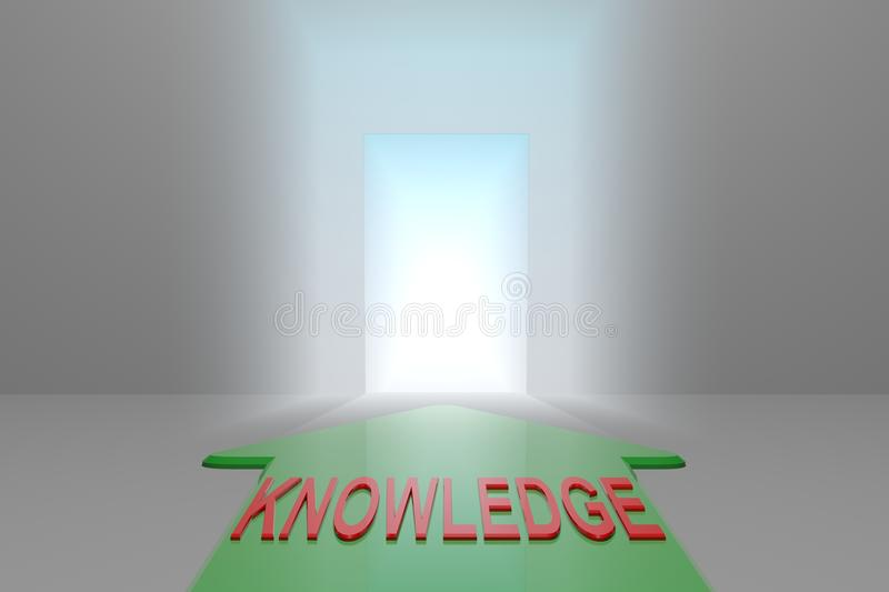 Knowledge to the open gate stock illustration
