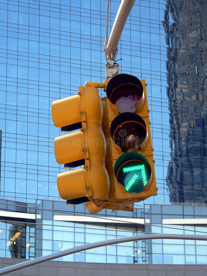 Download Green Arrow Traffic Light stock photo. Image of city, right - 105546