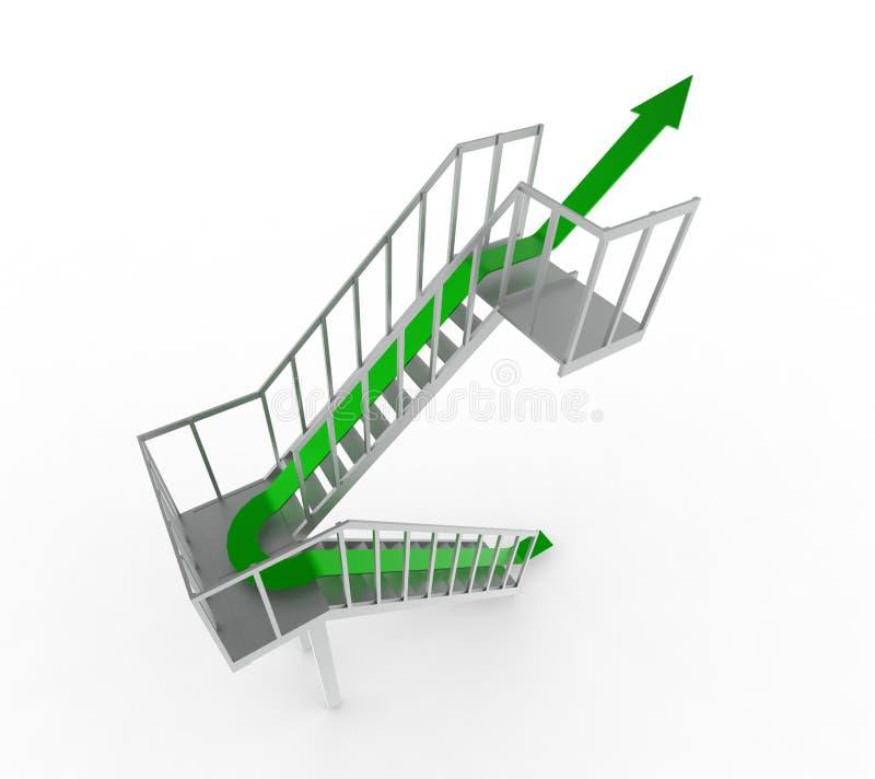 Download Green arrow upstairs stock illustration. Illustration of idea - 35645506