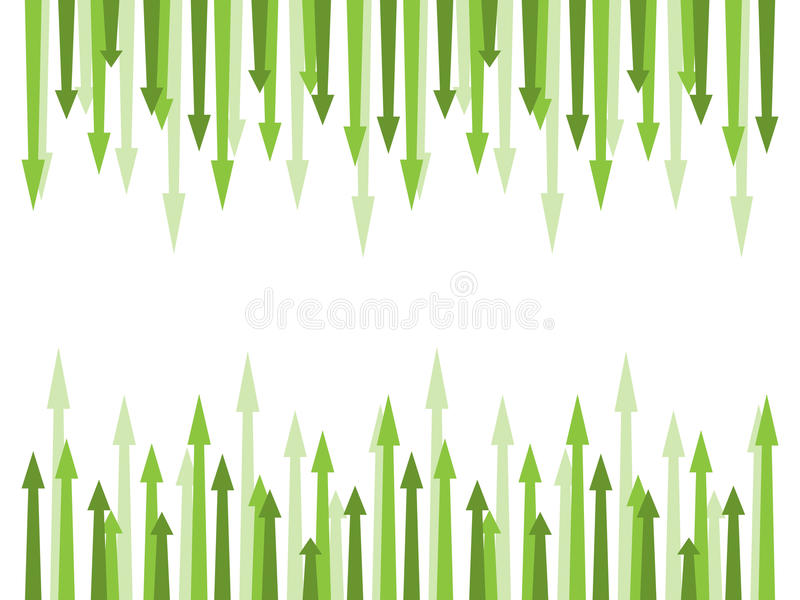 Green Arrows Royalty Free Stock Image