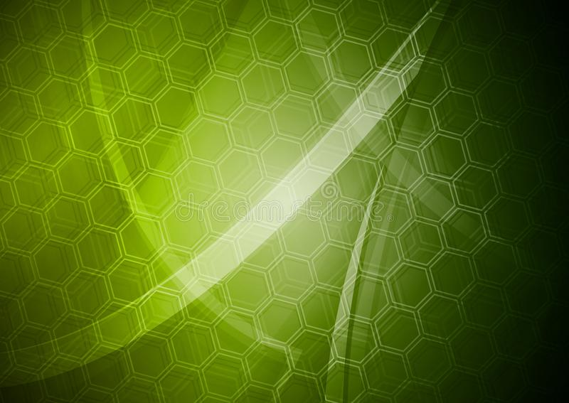 Download Green Backdrop With Hexagon Texture Stock Photo - Image: 19455440