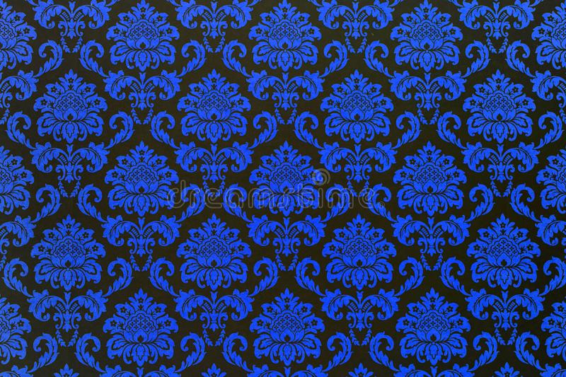 A wallpaper of a repeat botanic pattern. royalty free stock photos