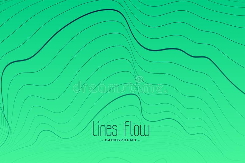 Green background with black contour lines. Vector royalty free illustration