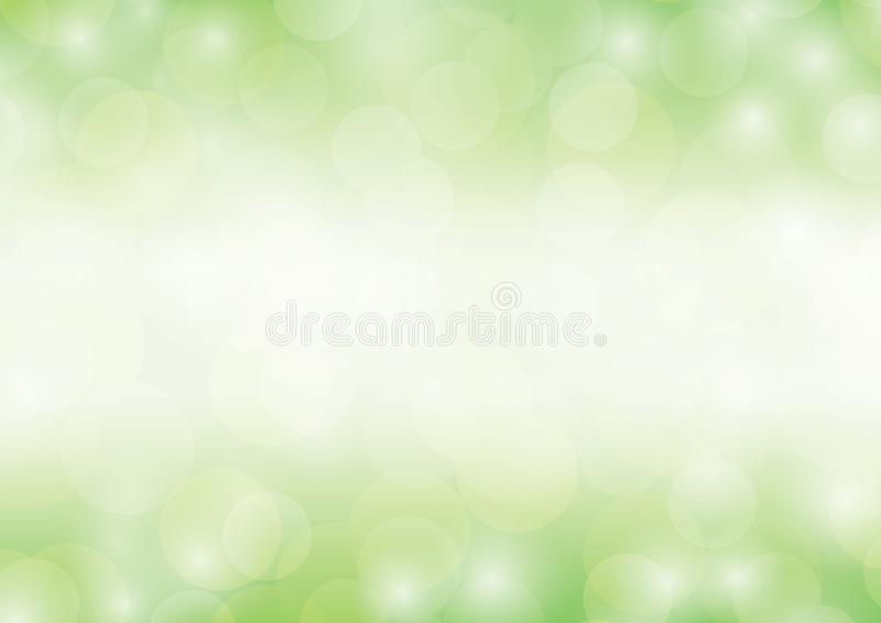 Green background bokeh glittering luxury abstract light sparkling blurred gradient vector illustration