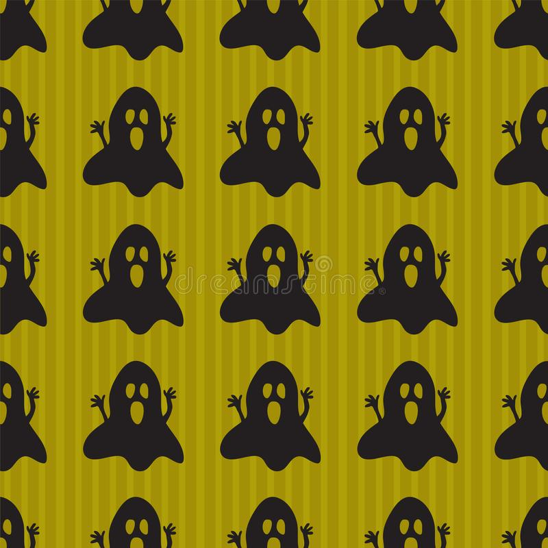 Halloween background with spooky ghosts stock illustration