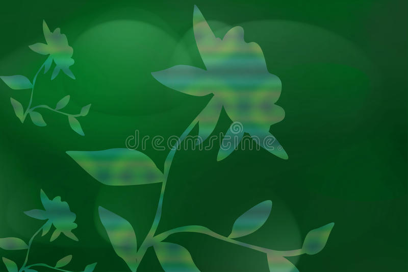 Download Green Background With Flora Stock Illustration - Image: 13237221