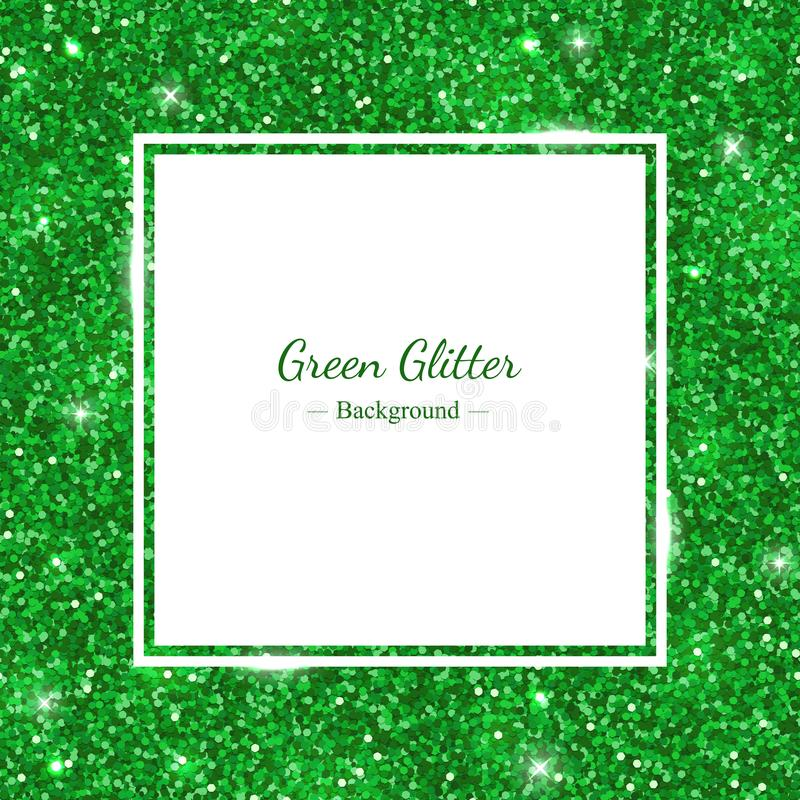 Download Green Background Frame With Shiny Glitter. Vector Stock Vector - Illustration of light, gleam: 106266461