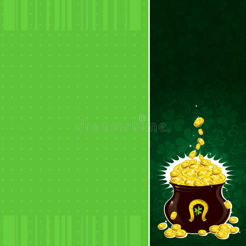 Download Green Background With Patricks Pot Stock Vector - Image: 17706864