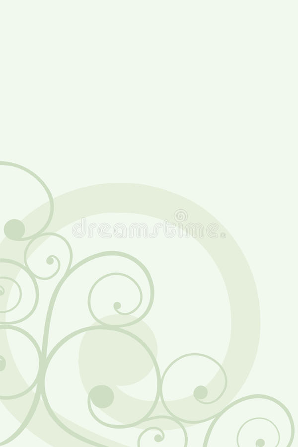 Green Background With A Pattern Stock Photography