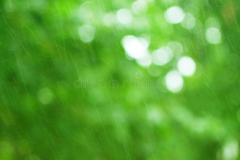 Green background with raindrops