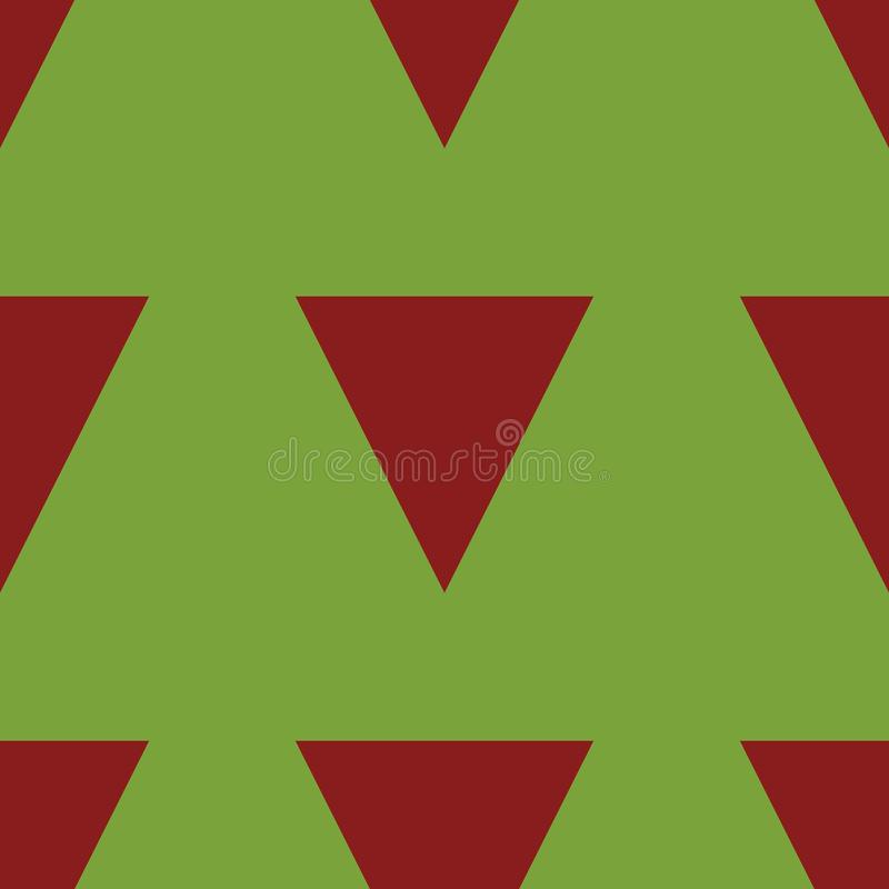 Green Background with Red Triangles royalty free stock image