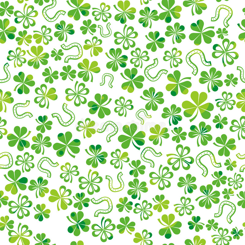 Download Green Background With Shamrock Stock Vector - Image: 8226993