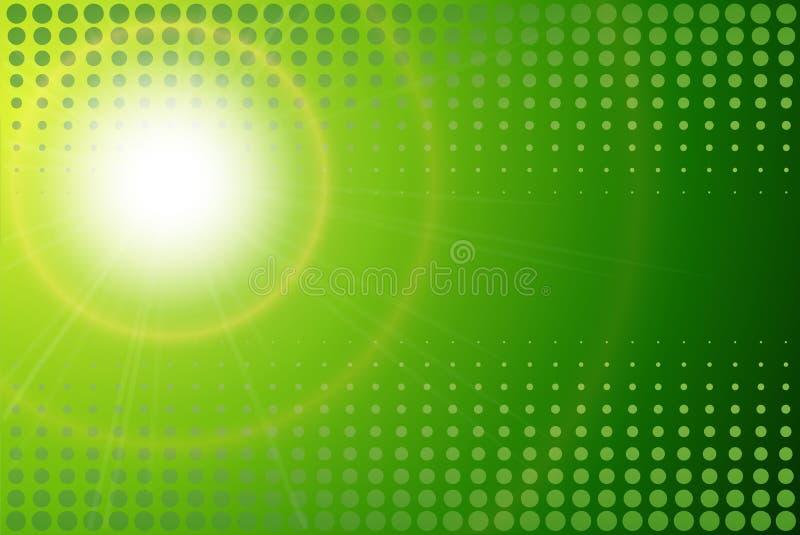 Green background sunny royalty free illustration