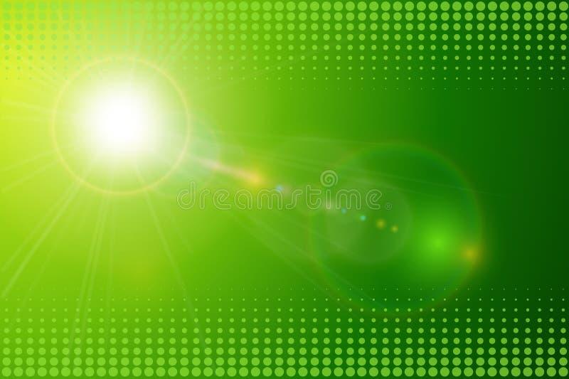 Green background sunny stock illustration