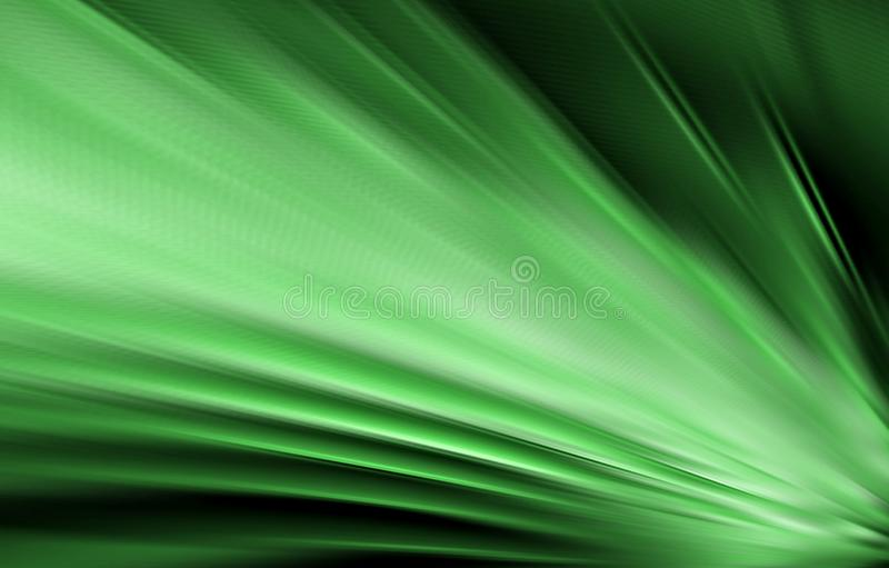 Green background. Texture of fabric. Folds of material diverging from the lower corner to the edges in different directions. royalty free stock photos