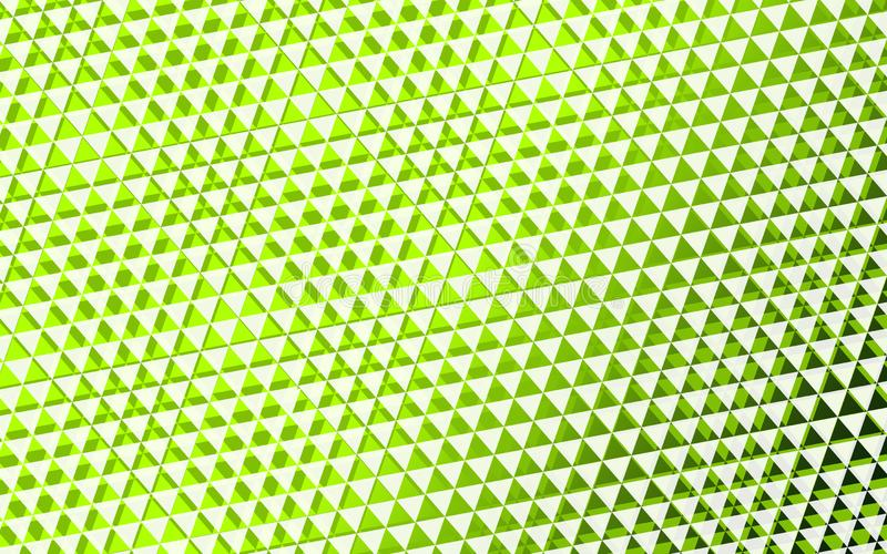 Green background triangle. Triangle, deep green background. Arranged in three-dimensional shape overlapping stock images