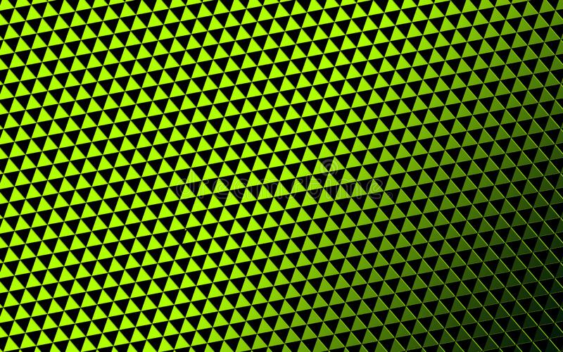 Green background triangle. Triangle, deep green background. Arranged in three-dimensional shape overlapping stock photos