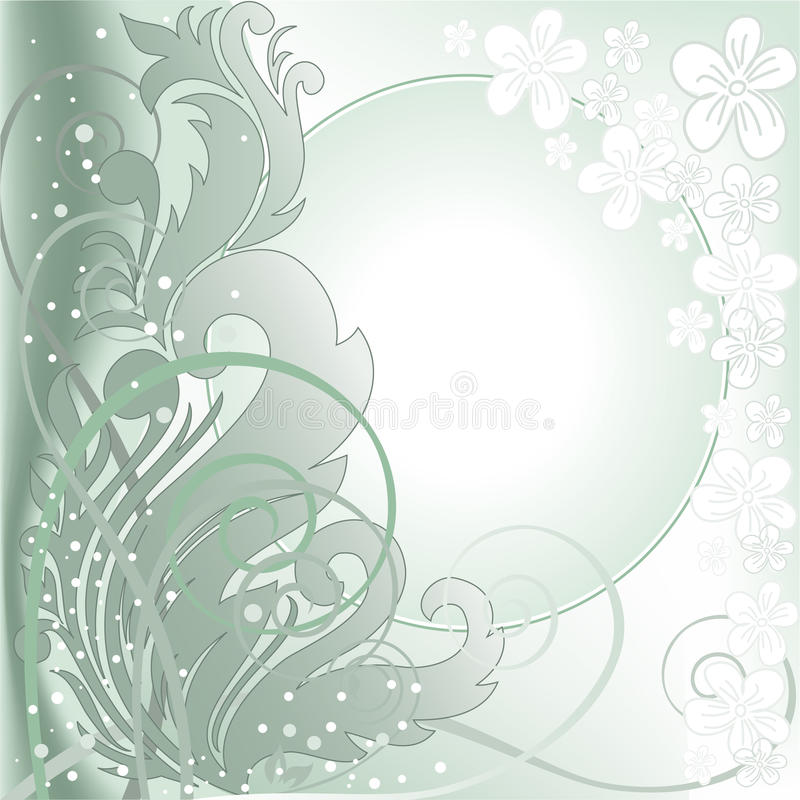 Download Green Background With White Frame Stock Vector - Image: 19090790