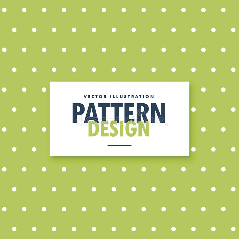 Green background with white polka dots pattern. Vector vector illustration